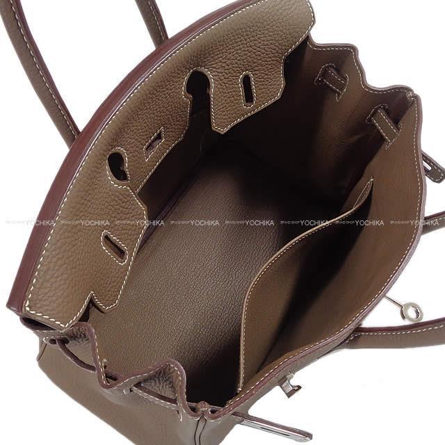 HERMES エルメス ハンドバッグ バーキン25 エトープ(エトゥープ) トゴ シルバー金具 新品同様【中古】