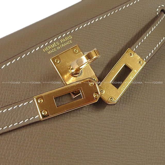 HERMES エルメス ショルダーバッグ ケリー ミニ ドゥ ケリー 2 外縫い エトープ エプソン ゴールド金具 新品