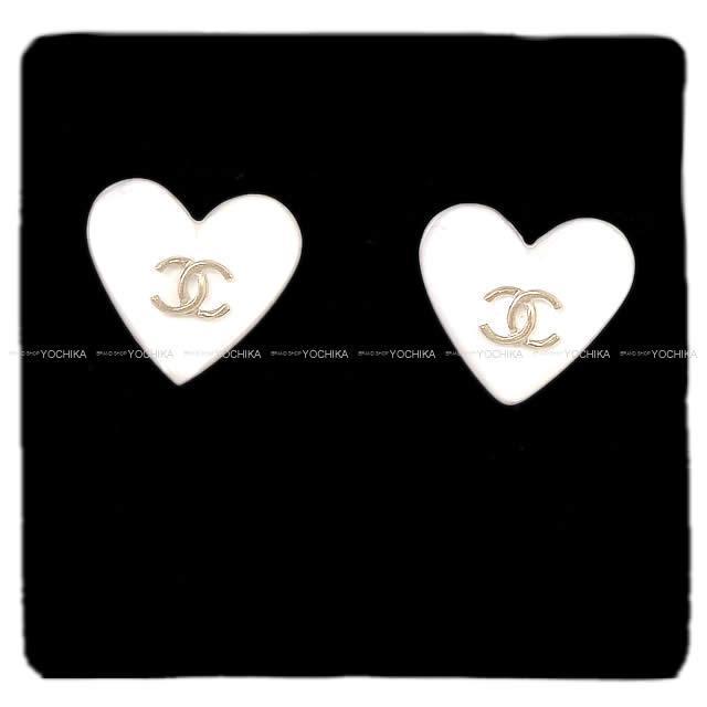 CHANEL シャネル キャンディ ハートモチーフ ココマーク ピアス 黒 ゴールド金具 A53245 新品
