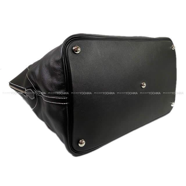 HERMES エルメス ボリードリラックス45 黒(ブラック) ヴォー・シッキム シルバー金具 新品未使用