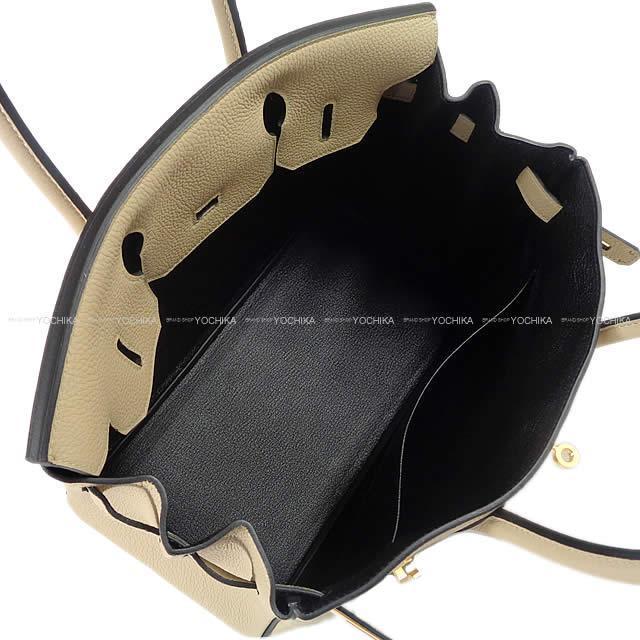HERMES エルメス ハンドバッグ スペシャルオーダー バーキン30 トレンチ/黒 トゴ マットゴールド金具 新品