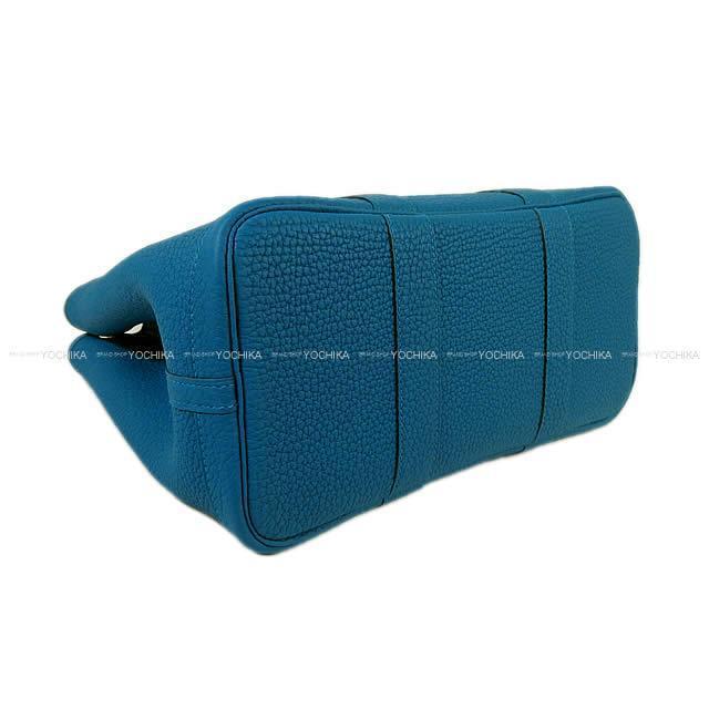 HERMES エルメス ハンドバッグ ガーデンパーティ 30 TPM ブルーイズミール ネゴンダ 新品
