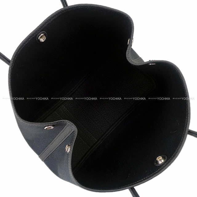 HERMES エルメス ハンドバッグ ガーデンパーティ 30 TPM 黒(ブラック) トワルミリタリーXネゴンダ