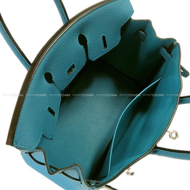 HERMES エルメス ハンドバッグ バーキン25 ターコイズ トゴ シルバー金具 新品未使用
