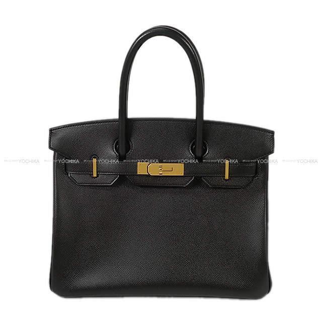 HERMES エルメス ハンドバッグ バーキン30 黒(ブラック) エプソン ゴールド金具 ABランク【中古】