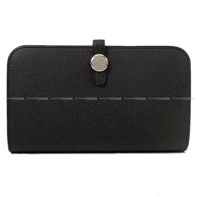 HERMES エルメス ドゴン GM 財布 黒(ブラック) トゴ シルバー金具 C刻印 新品