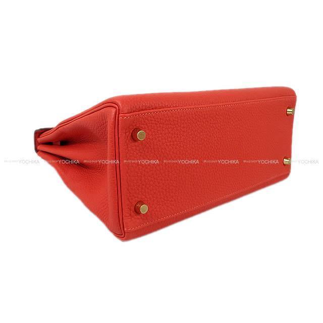 HERMES エルメス ハンドバッグ ケリー28 内縫い 黒(ブラック) トゴ ゴールド金具 A刻印 新品