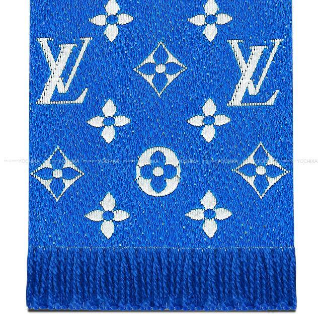 LOUIS VUITTON ルイ・ヴィトン マフラー エシャルプ・ロゴマニア ブルーデニムダーク M70812 新品