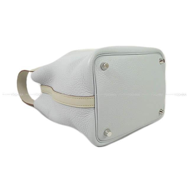 HERMES エルメス ハンドバッグ ピコタンロック タッチ 18 PM ブルーペールXグリスパール(パールグレー)
