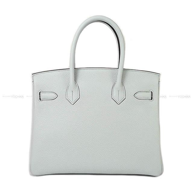 HERMES エルメス ハンドバッグ バーキン30 ブルーペール トリヨン シルバー金具 新品