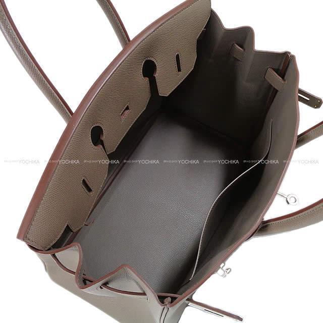 HERMES エルメス ハンドバッグ バーキン35 エタン エプソン シルバー金具 新品