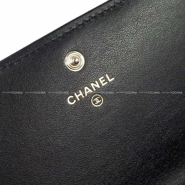 CHANEL シャネル ドーヴィル ファスナー付フラップ 長財布 黒(ブラック)