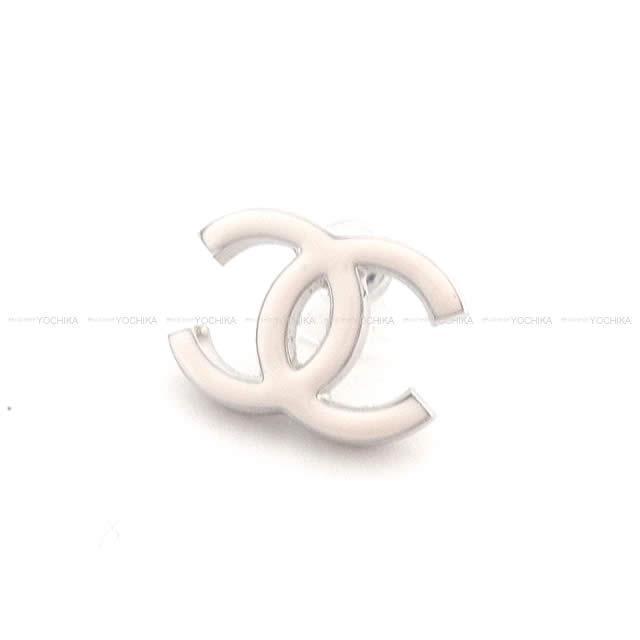 2018年 新作 CHANEL シャネル ドーム ココマーク フリル ピアス ピンクX白 A96890 新品