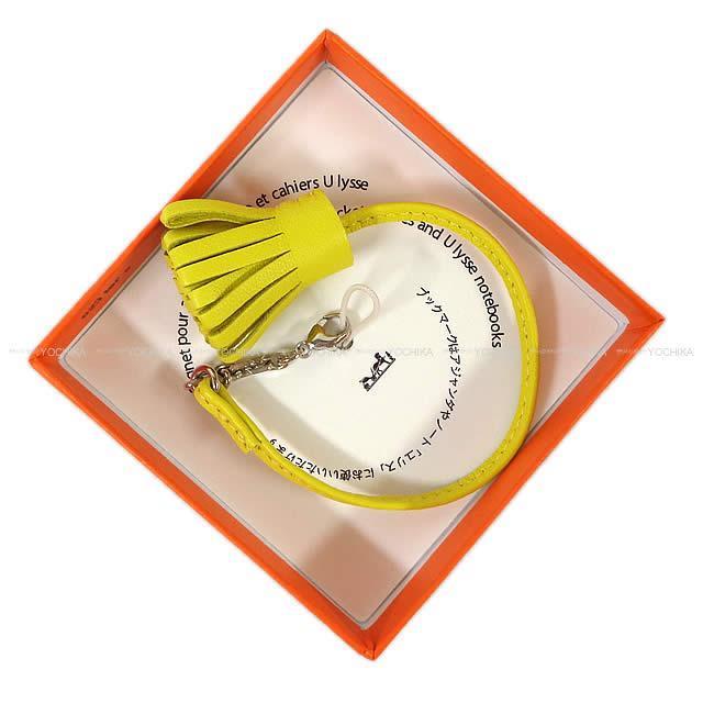 HERMES エルメス カルメン チータ グラン ポンポン 20 ライム アニューミロ シルバー金具 新品未使用