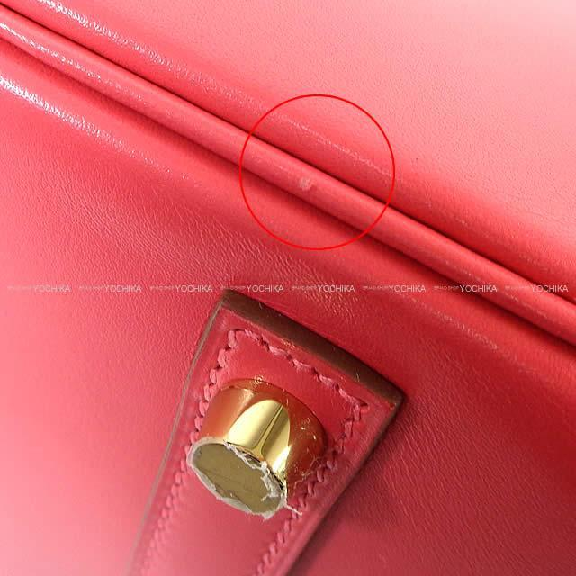 HERMES エルメス ハンドバッグ バーキン30 ローズリップスティック ヴォータデラクト ゴールド金具 新品同様【中古】