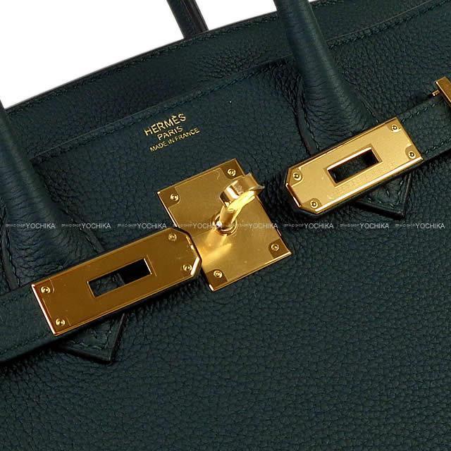 HERMES エルメス ハンドバッグ バーキン30 ヴェールシプレ(サイプレス) トゴ ゴールド金具 新品