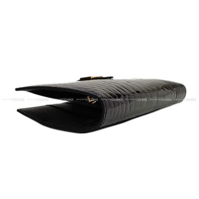 HERMES エルメス 財布 ベアン クラシック 黒(ブラック) アリゲーター ローズゴールド金具 新品