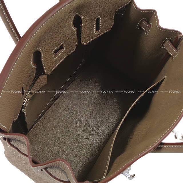 HERMES エルメス ハンドバッグ バーキン25 エトープ (エトゥープ) トゴ シルバー金具 新品未使用 ※ロゴ擦れ