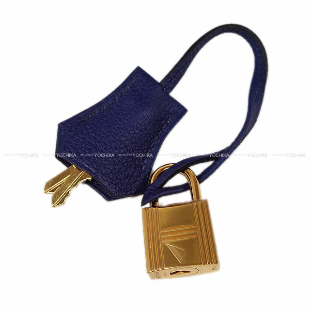 HERMES エルメス ハンドバッグ バーキン25 ブルーインク トゴ ゴールド金具 新品同様【中古】