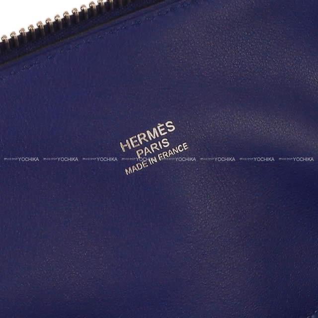 HERMES エルメス ハンドバッグ ボリード31 ブルーインク (ブルーアンクル) トリヨン シルバー金具 新品