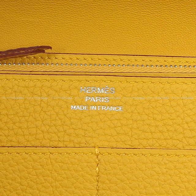HERMES エルメス ドゴン GM 財布 ジョーヌアンブル トゴ シルバー金具 新品未使用