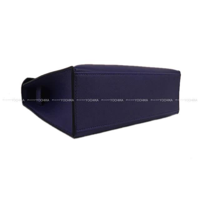 HERMES エルメス ハンドバッグ ポシェットケリー ブルーインク(ブルーアンクル) スイフト シルバー金具 新品
