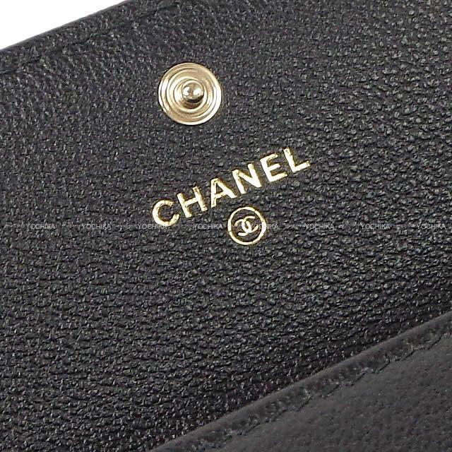2019 銀座限定 CHANEL シャネル ビッグシェヴロンステッチ フラップ 長財布 黒(ブラック) A81602 新品