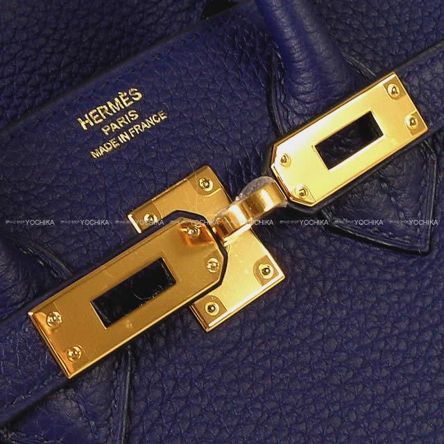 HERMES エルメス ハンドバッグ バーキン25 ブルーインク(アンクル) トゴ ゴールド金具 新品