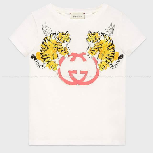 """Gucci グッチ キッズ """"ウイングタイガー&インターロッキング"""" GGプリント Tシャツ #12 554879 新品"""