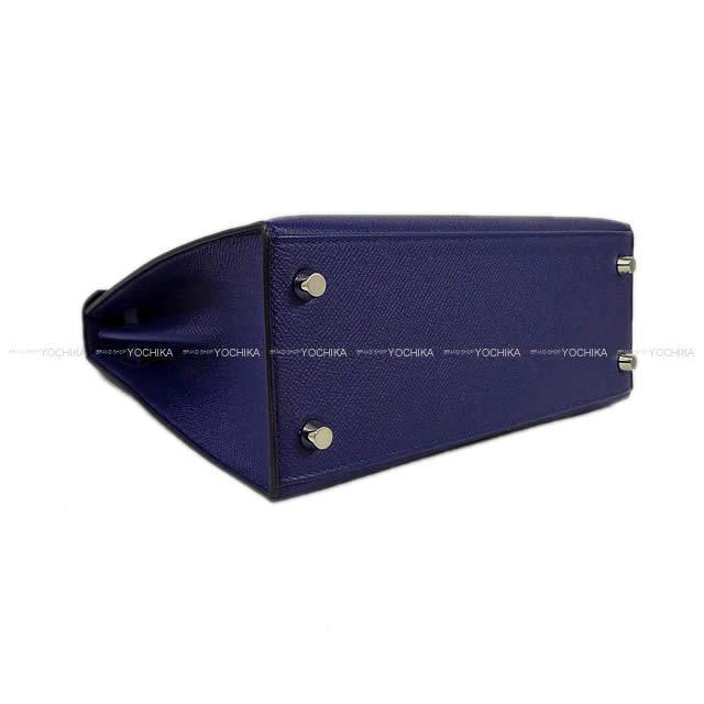 2018年 秋冬 HERMES エルメス ハンドバッグ ケリー25 外縫い ブルーインク(アンクル) エプソン 新品