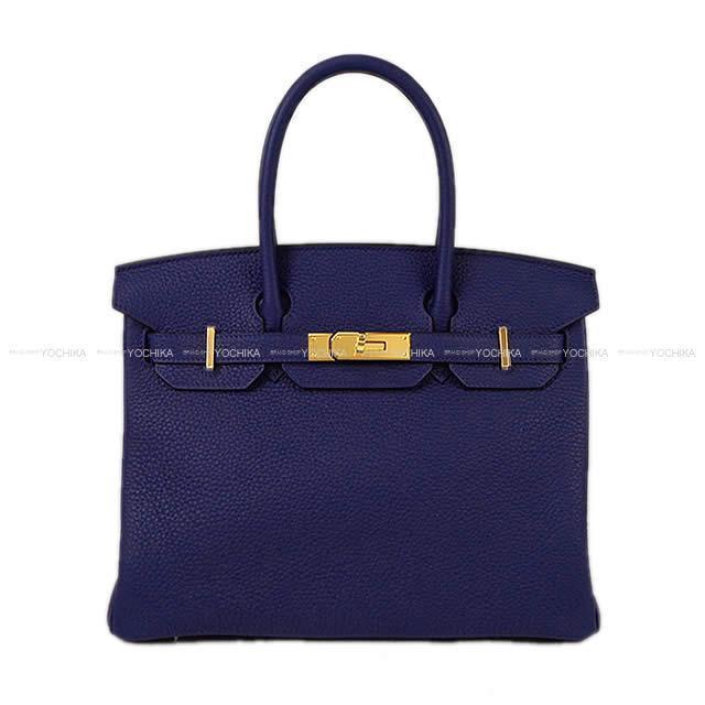 HERMES エルメス ハンドバッグ バーキン30 ブルーアンクル(ブルーインク) トリヨン ゴールド金具 新品