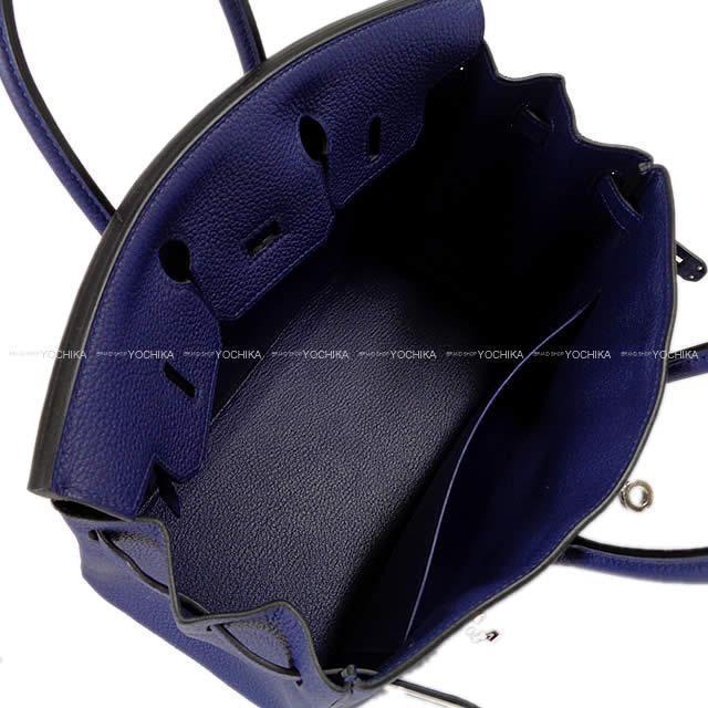 HERMES エルメス ハンドバッグ バーキン25 ブルーアンクル(ブルーインク) シルバー金具 新品