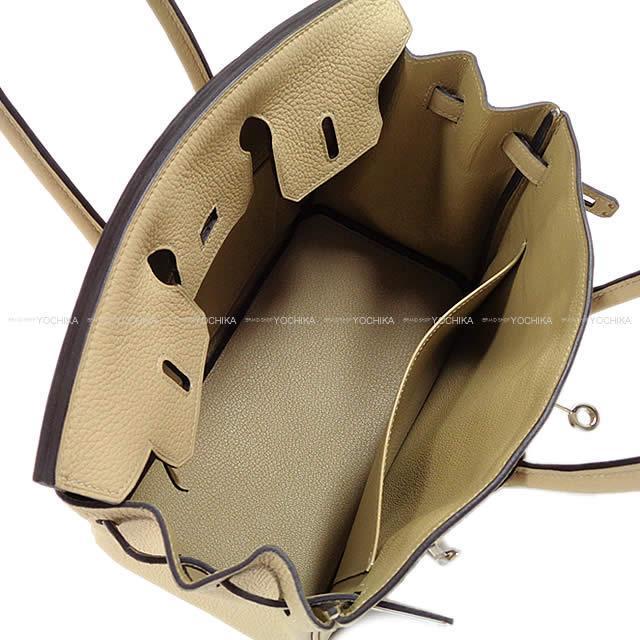 HERMES エルメス ハンドバッグ バーキン25 トレンチ トゴ シルバー金具 新品同様【中古】