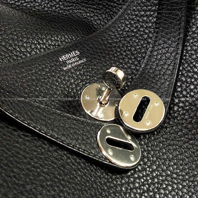 HERMES エルメス ショルダーバッグ リンディ30 黒(ブラック) トリヨン シルバー金具 展示新品