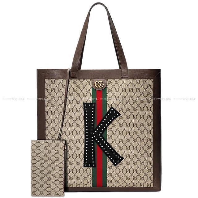 Gucci グッチ ''DIYオフィディア'' GGスプリーム マキシトートバッグ ブラウン レザー 52933504 新品