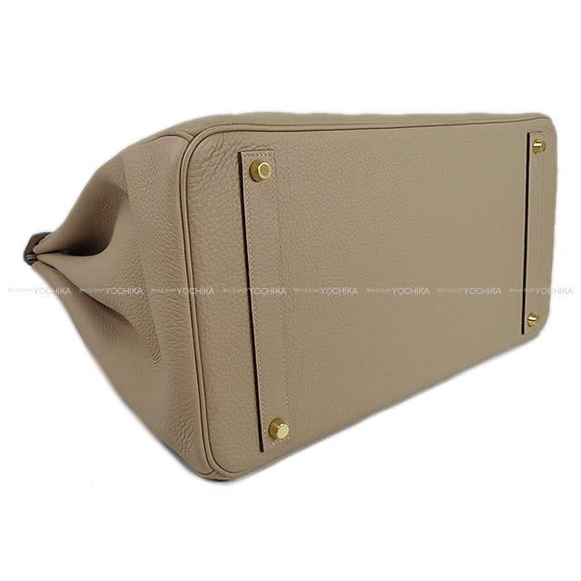 HERMES エルメス ハンドバッグ バーキン40 トゥルティールグレー トゴ ゴールド金具 SAランク【中古】