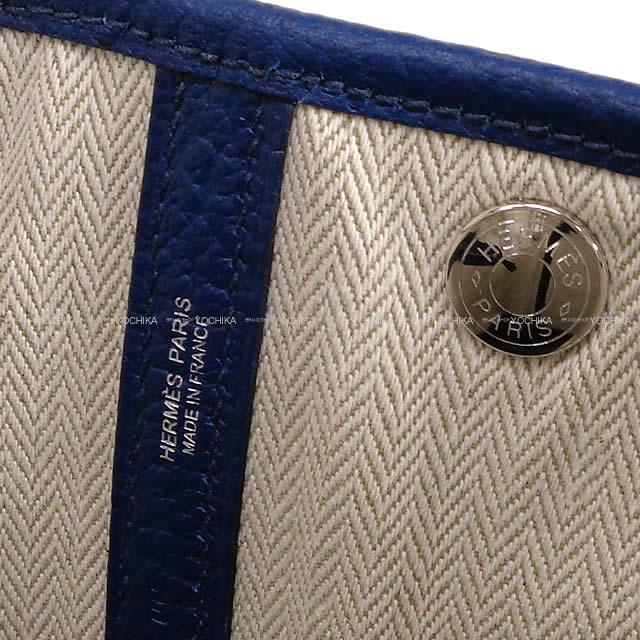 HERMES エルメス ハンドバッグ ガーデンパーティ 30 TPM ブルーアンクル(ブルーインク) ヴァッシュカントリー 新品