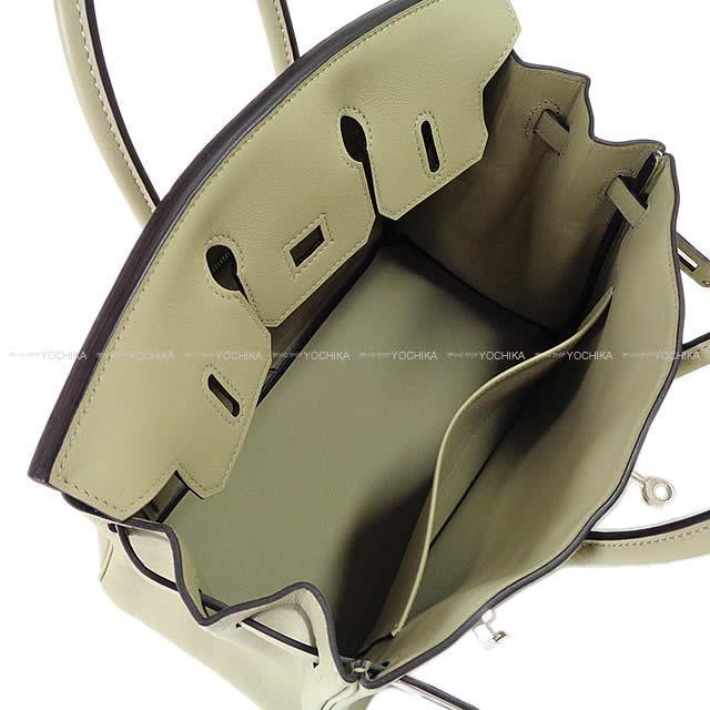 HERMES エルメス ハンドバッグ バーキン25 セージ(ソーゼ) スイフト シルバー金具 新品未使用