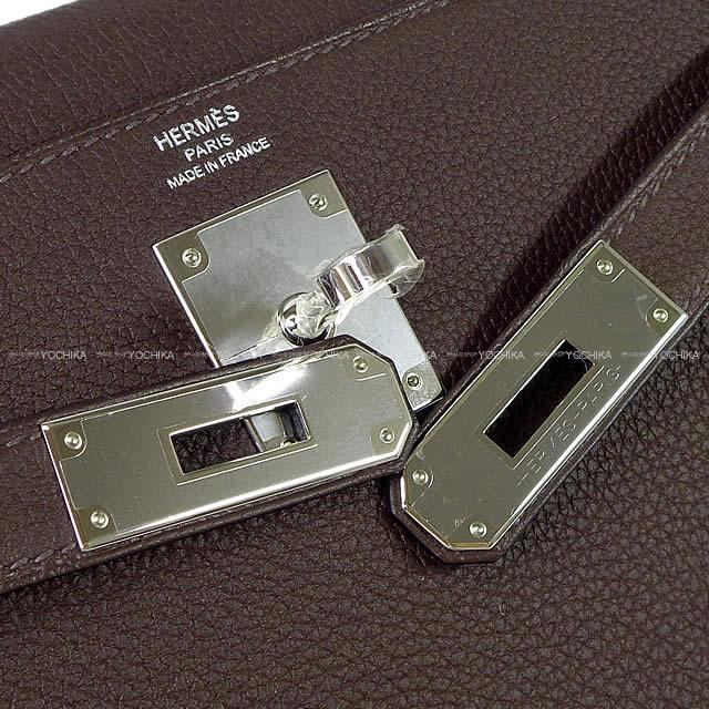 HERMES エルメス ハンドバッグ ケリー28 内縫い ショコラ トゴ シルバー金具 新品