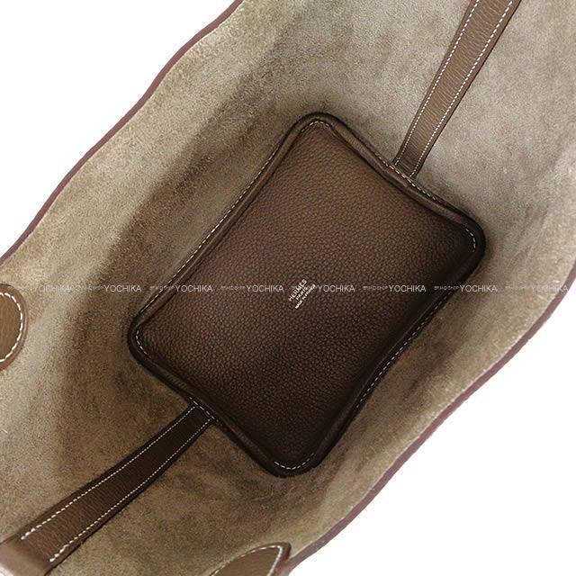 HERMES エルメス ピコタンロック 18 PM エトープ(エトゥープ) トリヨン シルバー金具 新品