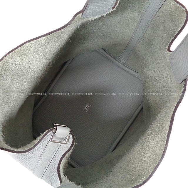 HERMES エルメス ハンドバッグ ピコタンロック 22 MM ブルーグラシエ トリヨン シルバー金具 新品同様【中古】