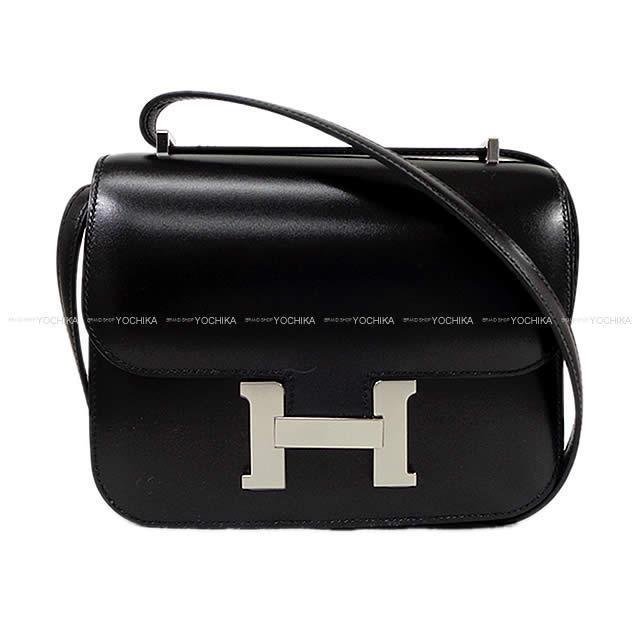 HERMES エルメス ショルダーバッグ コンスタンス3 ミニ 18 黒(ブラック) エプソン シルバー金具 新品