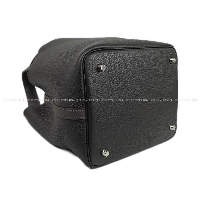 HERMES エルメス ハンドバッグ ピコタンロック タッチ 22 MM グラファイト×プロン 新品同様【中古】