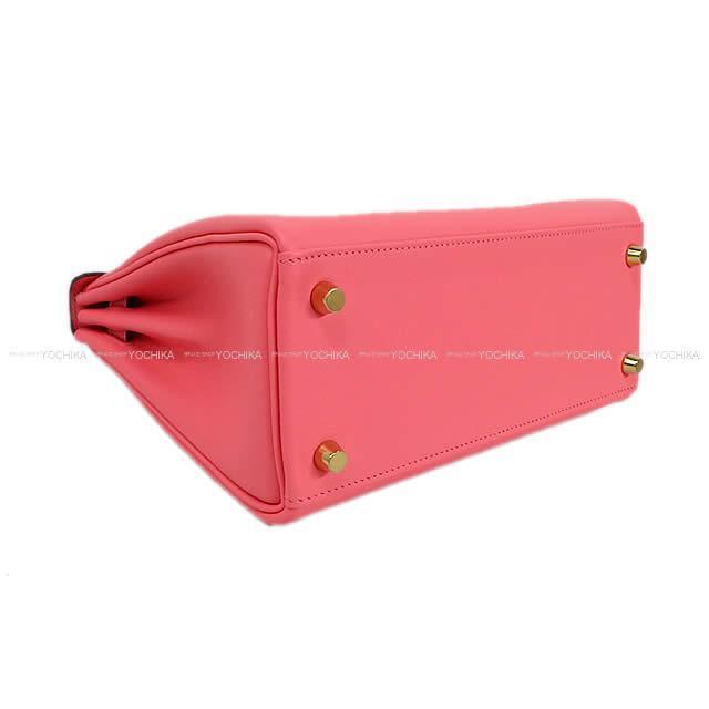 HERMES エルメス ハンドバッグ ケリー25 内縫い ローズアザレ スイフト シルバー金具 新品