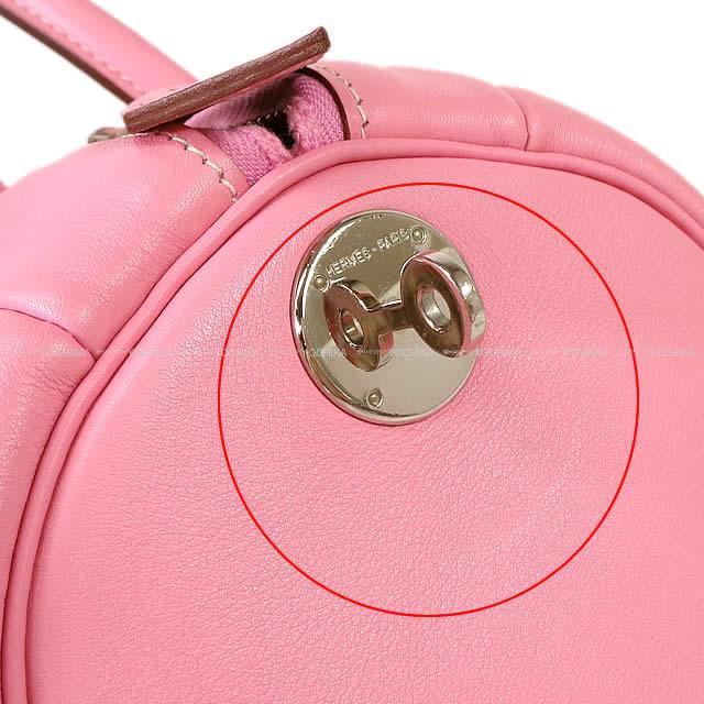 HERMES エルメス ハンドバッグ ポロション1925 30 ピンク スイフト シルバー金具 新品同様