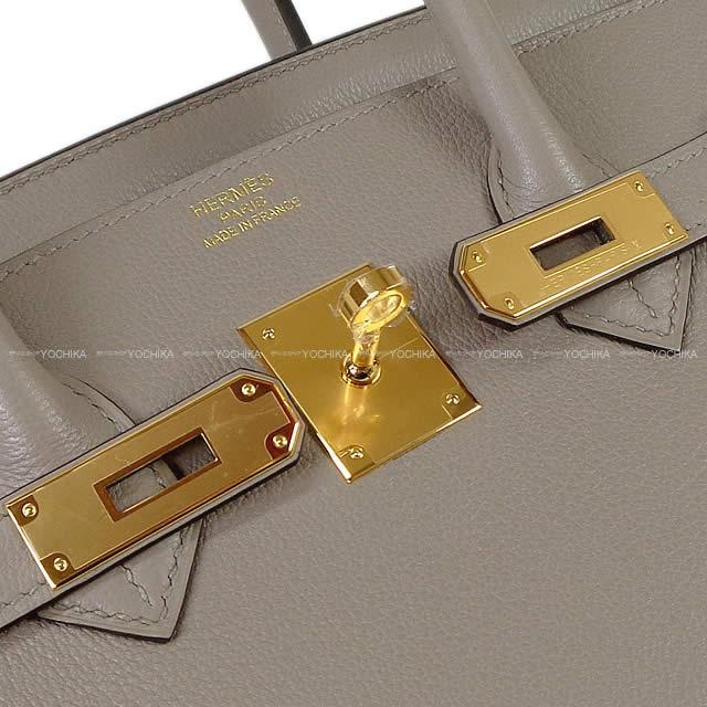 HERMES エルメス ハンドバッグ バーキン35 グリアスファルト トリヨンノヴィーヨ ゴールド金具 新品