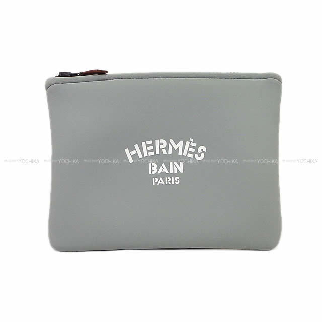 """HERMES エルメス フラットポーチ """"ネオバン"""" PM アシエ ポリアミド80%Xエラスタン20% 新品"""