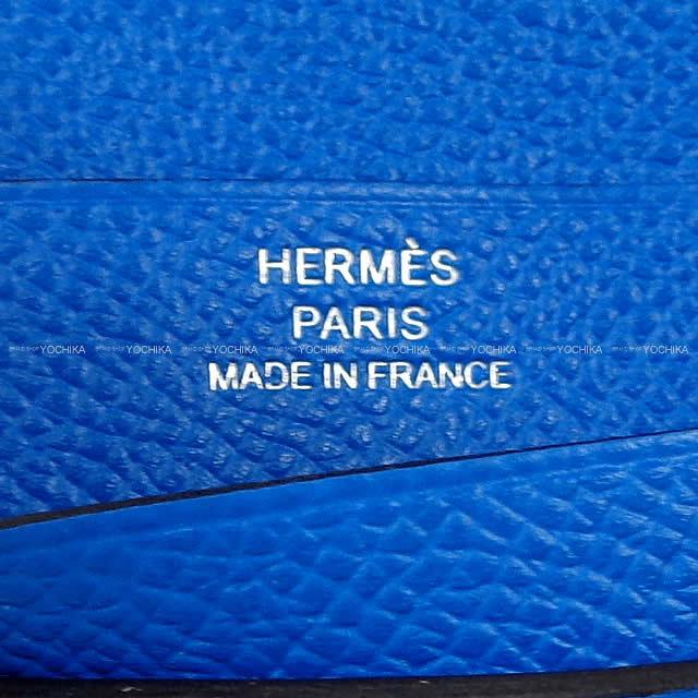HERMES エルメス 財布 ベアン コンパクト ヴェルソ ブルーアンクル(ブルーインク)Xブルーゼリージュ