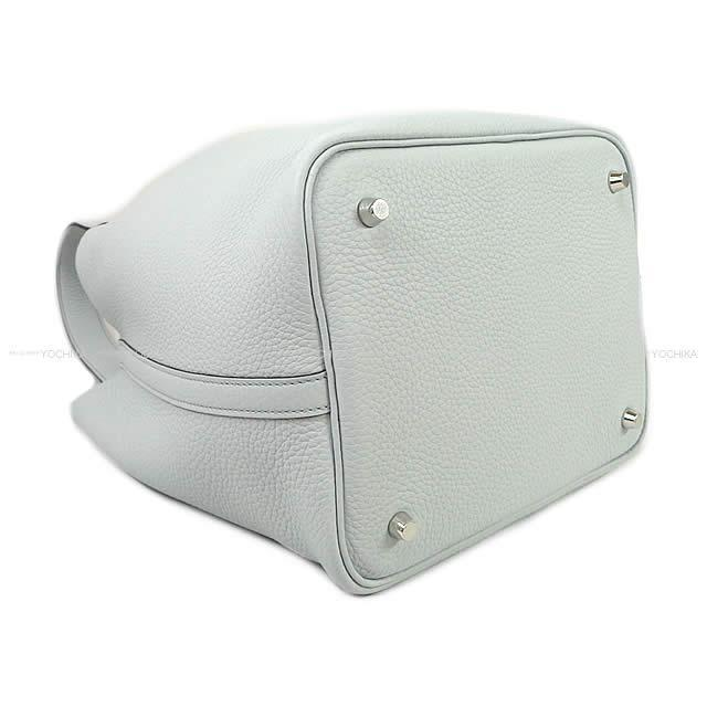HERMES エルメス ハンドバッグ ピコタンロック 22 MM ブルーペール トリヨン シルバー金具 新品
