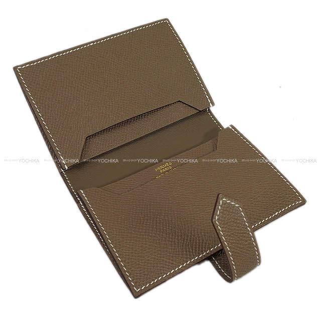 HERMES エルメス ベアン 名刺入 カードケース エトープ エプソン ゴールド金具 新品